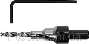 Свердло конфирматное по дереву 4/6 мм хвостовик 8 мм з 6-гран. ключем Yato YT-33021