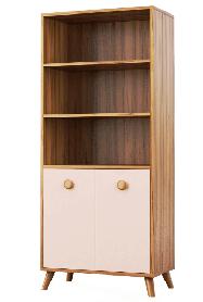 Шкаф книжный Колибри 1617х700х378мм орех марино   Світ Меблів
