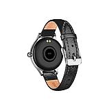 Женский Фитнес-браслет Mavens fit M8 серебряный с черным ремешком из эко-кожи, фото 2