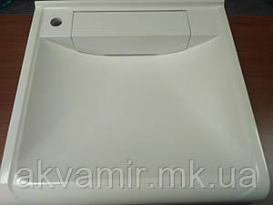 Раковина на пральну машину 60х55 см (камінь) біла