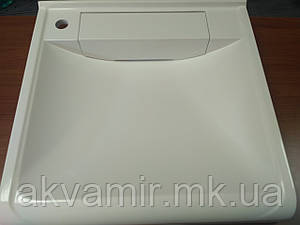 Раковина на стиральную машину 60х55 см (камень) белая