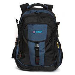 Рюкзак Міський нейлон Power In Eavas 8518 black-blue