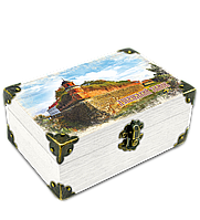 "Еко-шкатулка 10х15см.м. Дубно  ""Дубенський замок"" . Вежа Беатка"
