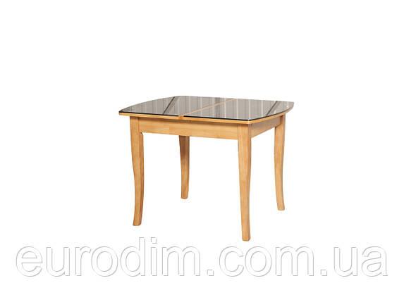 Стол обеденный ED01 стекло темное/ольха, фото 2