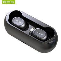Bluetooth  TWS наушники QCY T1 ( QS1 ) black с микрофоном. В наличии!