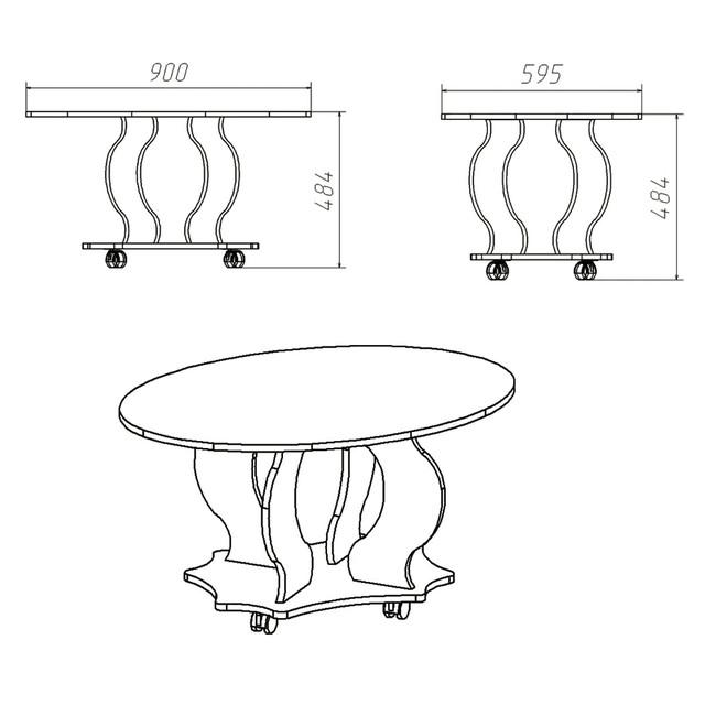 Схема стола Венеция