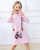 Дитяче трикотажне плаття туніка Сумка рожеве