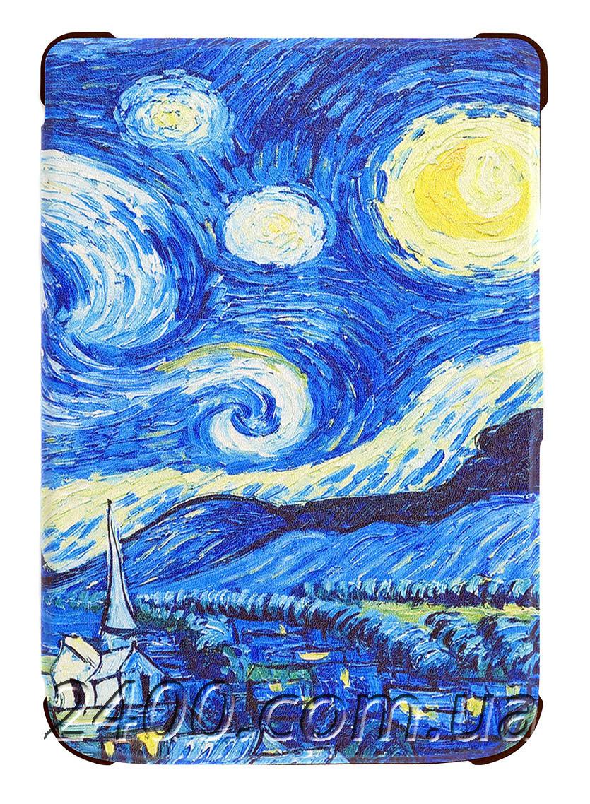 "Обложка - Чехол Электронной Книги Kobo Clara (HD 249) 6"" - Кобо Клара графика Ван Гог (Van Gogh) Звездное небо"
