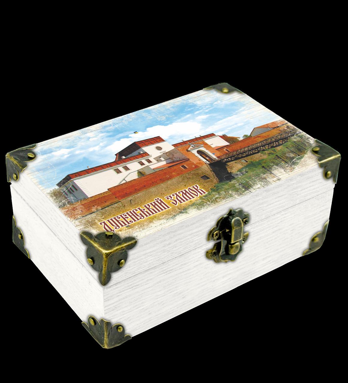 """Еко-шкатулка 10х15см. м. Дубно """"Дубенський замок""""."""