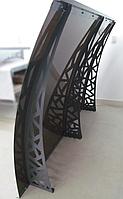Металевий збірний дашок Dash'Ok Хайтек 2,05м*1,5м з монолітним полікарбонатом 3мм