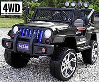Детский электромобиль Jeep 4x4 - s2388 полноприводный на резиновых колесах EVA