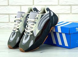 Мужские модные кроссовки Adidas Yeezy 700 Mauve серого цвета