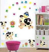 Детская интерьерная наклейка на стену Собачки AY7036