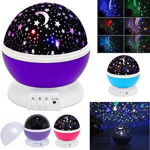 Круглый вращающийся ночник-проектор звездное небо
