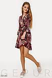 Цветочное платье на запах с воланами, фото 2