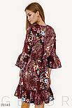 Цветочное платье на запах с воланами, фото 3