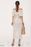 Длинное платье в полоску на лето с открытыми плечами, фото 4