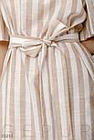 Длинное платье в полоску на лето с открытыми плечами, фото 5