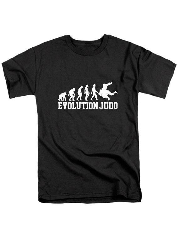 """Мужская футболка с принтом Дзюдо """"Judo evolution"""" Push IT"""