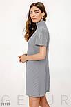 Короткое платье с пышными короткими рукавами серое, фото 2