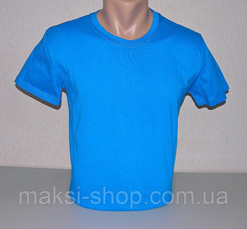 Мужская футболка однотонная М (46-48) раз хлопок (F-814)