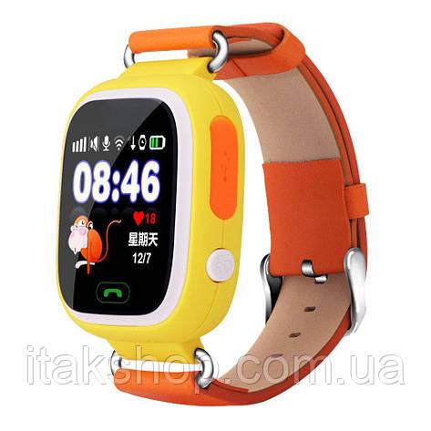 Умные детские часы Smart Baby Watch Q90 с GPS трекером Оригинал желтые (оранжевые), фото 2