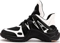 Женские кроссовки Louis Vuitton Archlight Trainer Black White 1A43K8, Луи Виттон Арчлайт Треинер