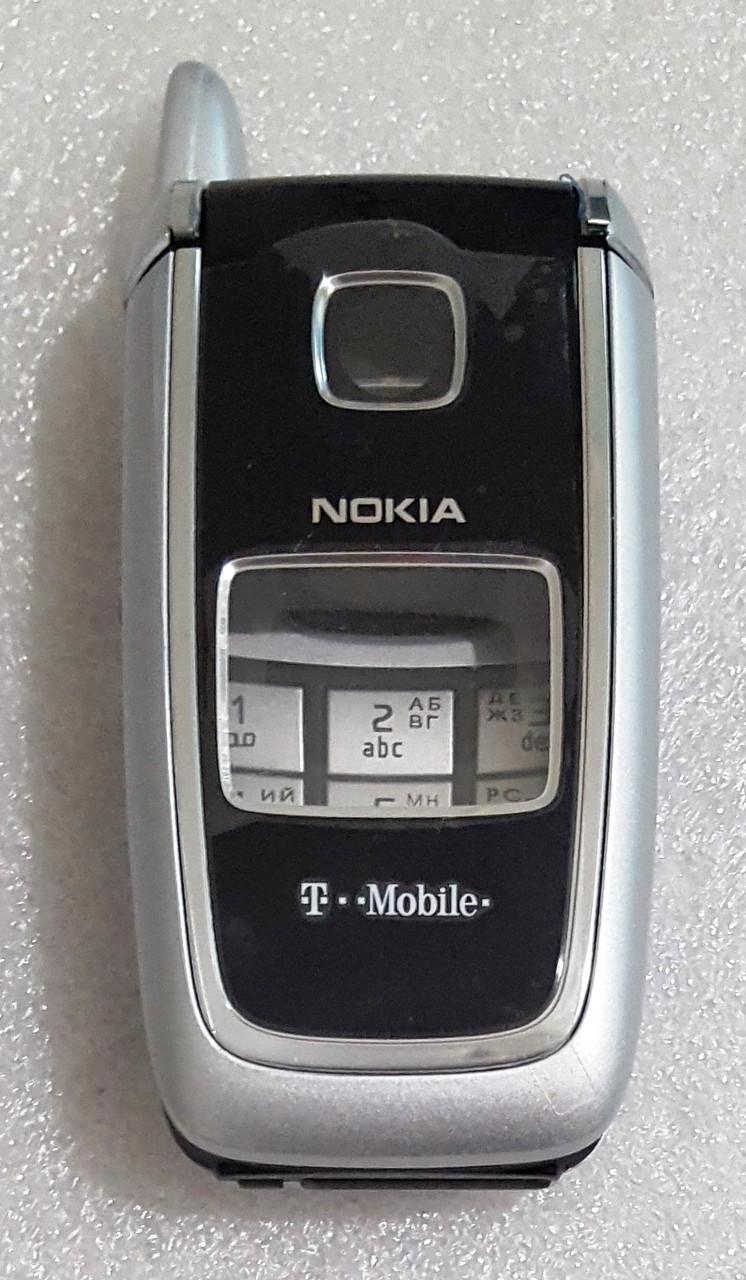 Корпус для Nokia 6101 black-silver з клавіатурою