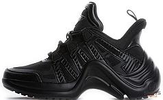 Мужские кроссовки Louis Vuitton SS18 All Black,  Луи Виттон СС18