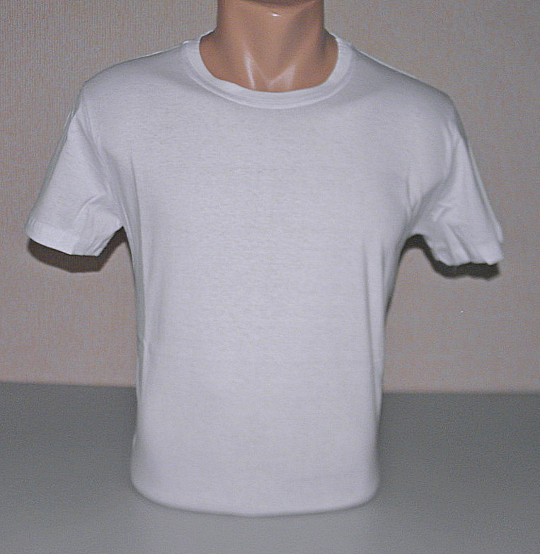 Мужская футболка однотонная L (48-50) раз хлопок (F-819)