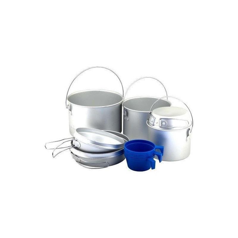 Набор посуды из алюминия Tramp на 3-4 чел. Набор туристической посуды