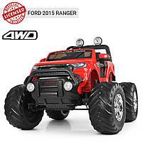 Электромобиль детский джип Ford Ranger (Monster Truck) M 4013(MP4)EBLR-3 | MP4 монитор