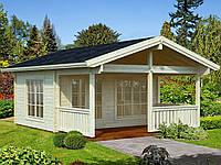 Дом деревянный из профилированного бруса 7.5х5.2. Скидка на домокомплекты на 2020 год