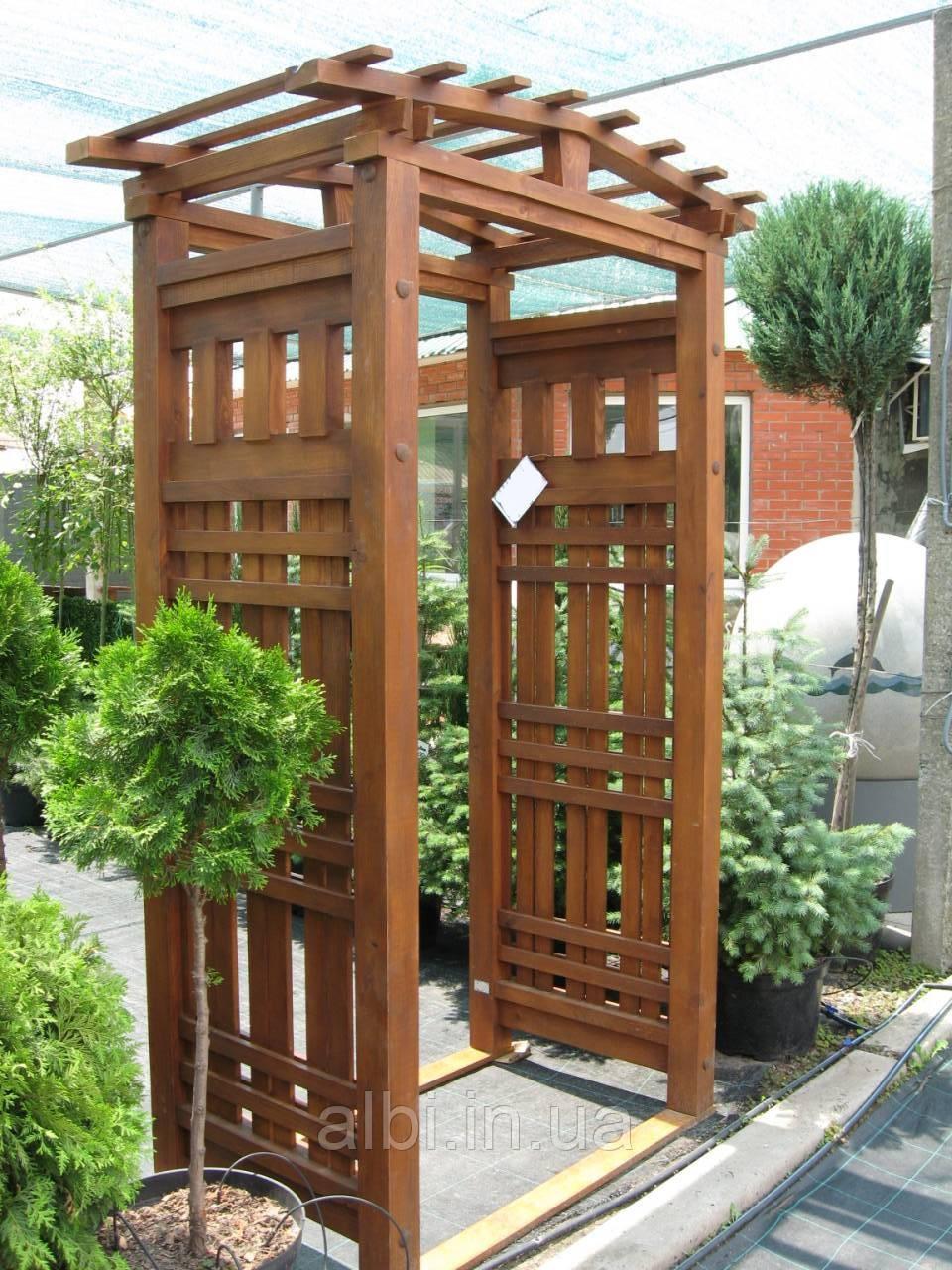 Арка Шанхай-7Л садовая для вьющих растений деревянная