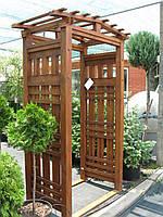 Арка Шанхай-7Л садовая для вьющих растений деревянная, фото 1