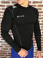 Компрессионное спортивное трикотажное мужское белье Dase model Black для спорта активного отдыха футбола