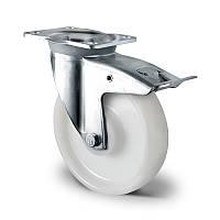 Поворотное колесо с тормозом 200 мм, нагрузка 450 кг, полиамид, шариковые подшипники