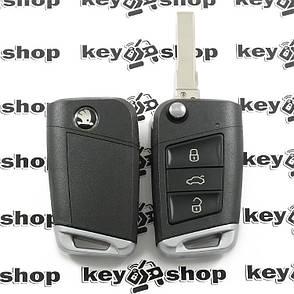 Корпус выкидного ключа SKODA (Шкода) - 3 кнопки, лезвие HU 66 (Под переделку), фото 2