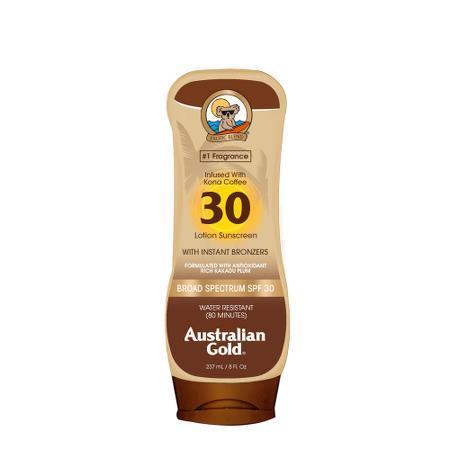 Лосьон бронзатор с защитой Infused With Kona Coffee SPF 30 Instant Bronzer Australian Gold