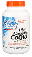 Коэнзим Q10, Doctor's Best, High Absorption CoQ10 w/ Bioperine (100mg) 360 vcaps