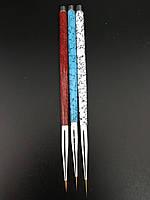 Набор кистей для рисование Мрамор 3 шт