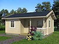 Дом деревянный из профилированного бруса 6.2х4.7