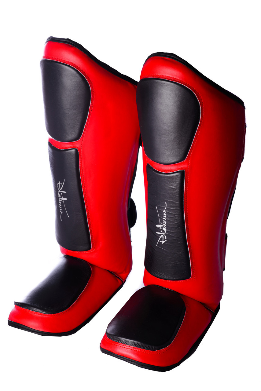 SALE Захист гомілки і стопи PowerPlay 3032 Чорно-Червоний S