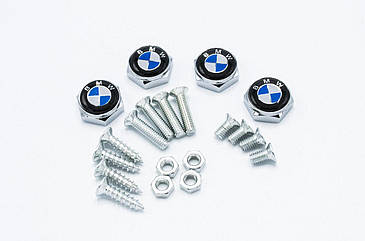 Болты для номерного знака YEK с логотипом BMW, набор болтов для номеров логотип БМВ