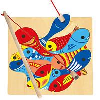 Деревянный развивающий пазл - Рыбалка