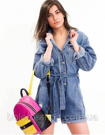 Комбинезон джинсовый шортами Monday Premium  Италия, фото 2