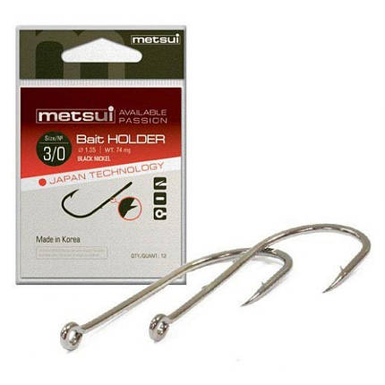 Крючки Metsui BAIT HOLDER цвет bln, размер № 8, в уп. 12 шт. (8803720031253), фото 2