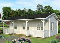 Дом деревянный из профилированного бруса 7.9х3.7