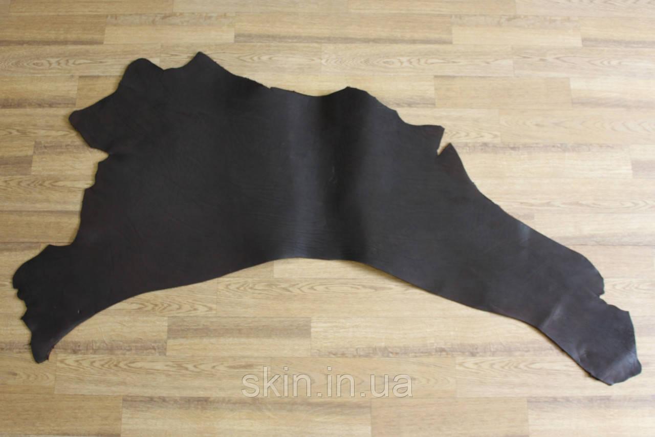 Кожа натуральная ременная в воротках, толщина 3.2 мм, коричневого цвета, арт. СК 1677-5