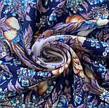 Белой ночи кружевные сны 1844-14, павлопосадский платок шерстяной  с шелковой бахромой, фото 4